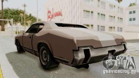 GTA Vice City - Sabre Turbo (Sprayable) для GTA San Andreas вид сзади слева
