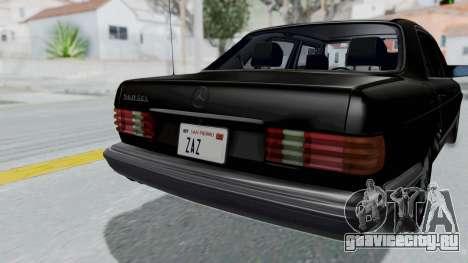Mercedes-Benz 560SEL 1987 US-spec для GTA San Andreas вид сзади