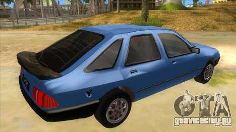 Ford Sierra 1.6 GL Updated для GTA San Andreas вид справа