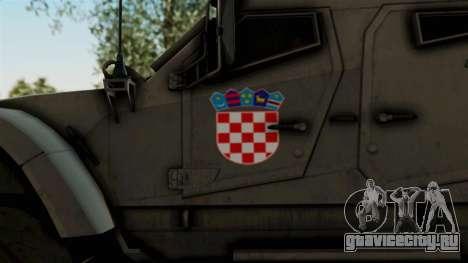Croatian Oshkosh M-ATV Desert для GTA San Andreas вид сзади