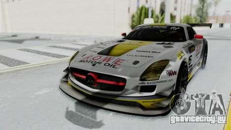 Mercedes-Benz SLS AMG GT3 PJ7 для GTA San Andreas вид сзади