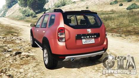 Dacia Duster 2014 для GTA 5 вид сзади слева