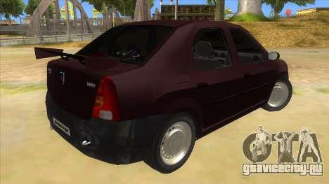 Dacia Logan Sport для GTA San Andreas вид справа