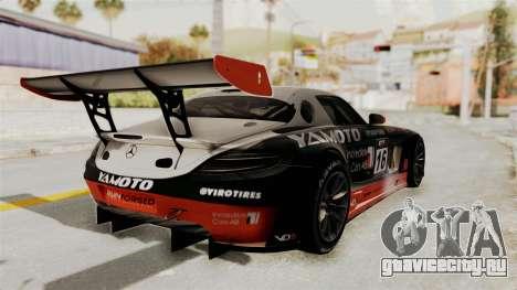 Mercedes-Benz SLS AMG GT3 PJ2 для GTA San Andreas двигатель
