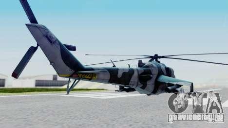 Mi-24V GDR Air Force 45 для GTA San Andreas вид сзади слева