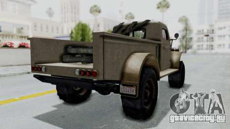 GTA 5 Bravado Duneloader Cleaner Worn для GTA San Andreas вид сзади слева