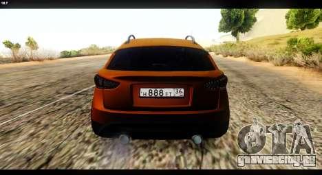 Infiniti FX37 для GTA San Andreas вид сзади слева