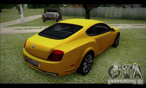 Bentley Continental для GTA San Andreas вид слева