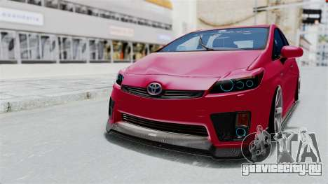 Toyota Prius 2011 Elegant Modification для GTA San Andreas вид сзади слева