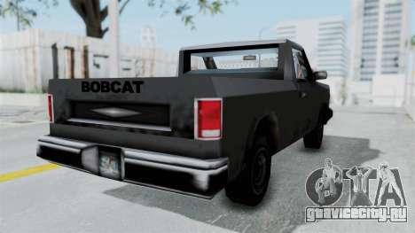 Beta VC Bobcat для GTA San Andreas вид сзади слева