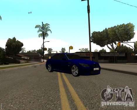 BMW M5 E60 v1.0 для GTA San Andreas вид сбоку