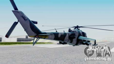 Mi-24V GDR Air Force 45 для GTA San Andreas вид слева