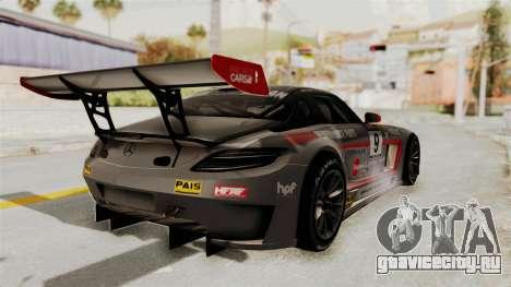 Mercedes-Benz SLS AMG GT3 PJ2 для GTA San Andreas вид снизу