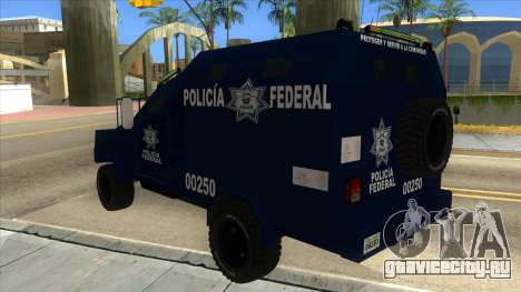 Black Scorpion Police для GTA San Andreas вид сзади слева