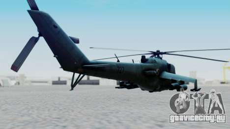 Mi-24V Polish Air Force 727 для GTA San Andreas вид слева