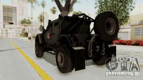 Croatian Oshkosh M-ATV Desert для GTA San Andreas вид сзади слева