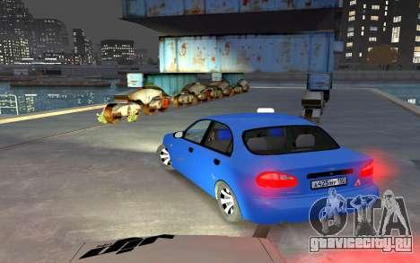 Daewoo Lanos Taxi для GTA 4 вид сзади слева