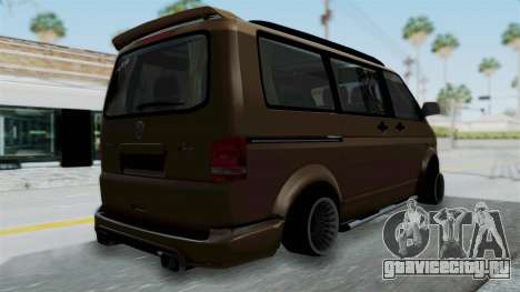 Volkswagen Transporter TDI Final для GTA San Andreas вид слева