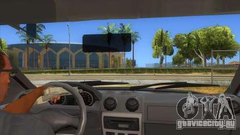 Dacia Logan Sport для GTA San Andreas вид изнутри