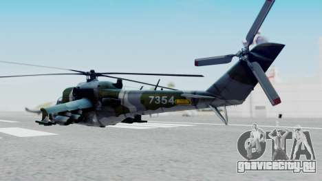 Mi-24V Czech Air Force 7354 для GTA San Andreas вид слева