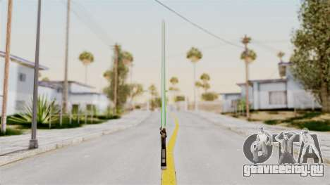 Star Wars LightSaber Green для GTA San Andreas второй скриншот