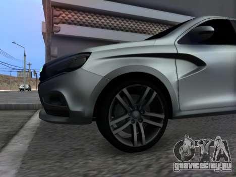 Lada Vesta HD (beta) для GTA San Andreas вид изнутри