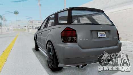 GTA 5 Benefactor Serrano IVF для GTA San Andreas вид слева
