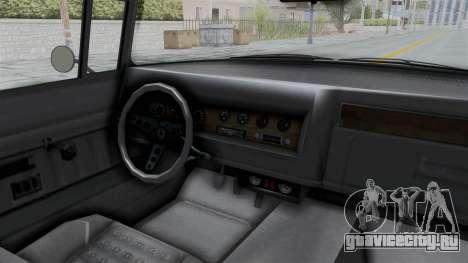 GTA 5 Declasse Tornado No Bobbles and Plaque IVF для GTA San Andreas вид изнутри