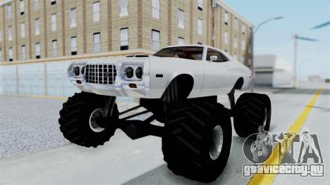 Ford Gran Torino 1972 Monster Truck для GTA San Andreas вид сзади слева