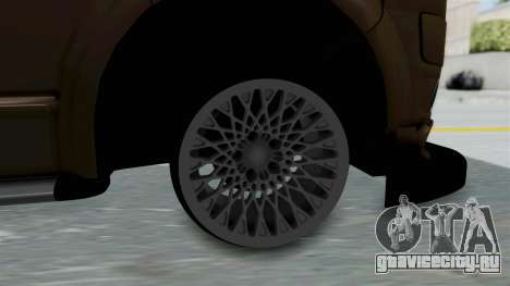 Volkswagen Transporter TDI Final для GTA San Andreas вид сзади слева