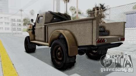 GTA 5 Bravado Duneloader Cleaner Worn для GTA San Andreas вид слева