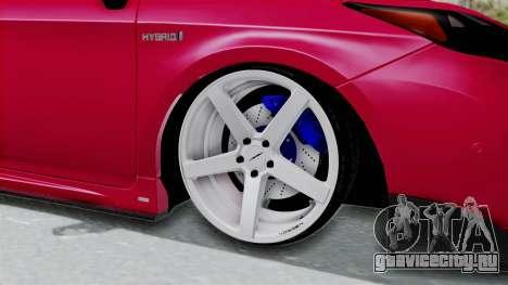 Toyota Prius 2011 Elegant Modification для GTA San Andreas вид сзади