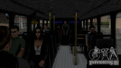 Mercedes-Benz Old Iranian Bus для GTA San Andreas вид сзади