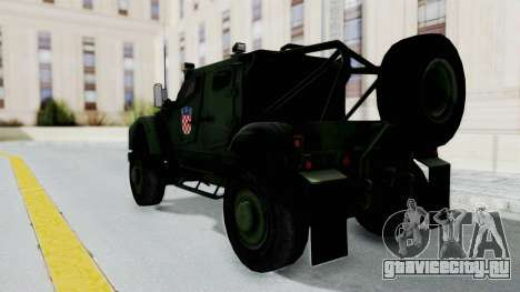 Croatian Oshkosh M-ATV Woodland для GTA San Andreas вид слева