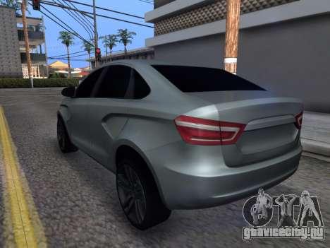 Lada Vesta HD (beta) для GTA San Andreas вид сзади слева