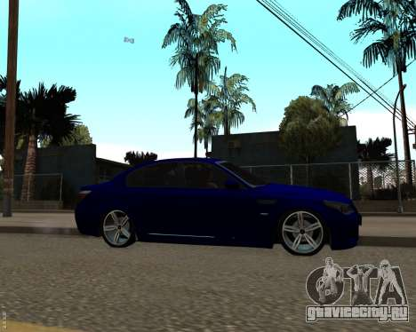 BMW M5 E60 v1.0 для GTA San Andreas вид слева