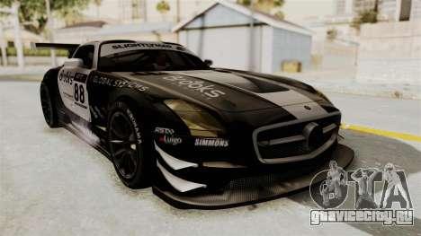 Mercedes-Benz SLS AMG GT3 PJ2 для GTA San Andreas вид изнутри