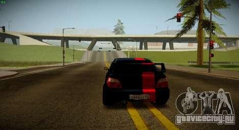 Subaru Impreza WRX STi Чёрная Бестия для GTA San Andreas вид справа