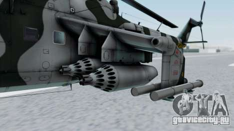 Mi-24V GDR Air Force 45 для GTA San Andreas вид сзади