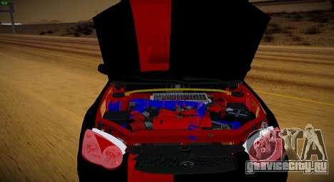 Subaru Impreza WRX STi Чёрная Бестия для GTA San Andreas вид сзади