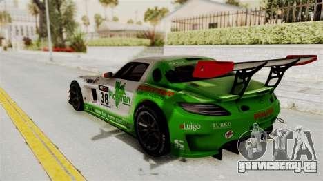 Mercedes-Benz SLS AMG GT3 PJ4 для GTA San Andreas вид изнутри