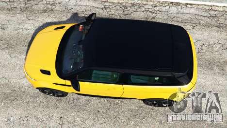 Range Rover Evoque для GTA 5 вид сзади