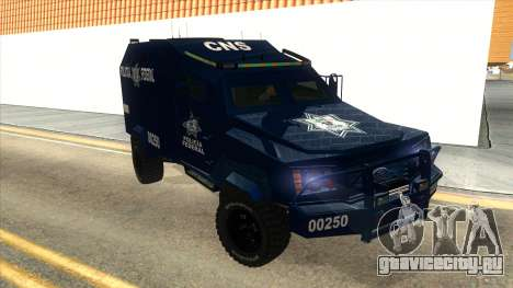 Black Scorpion Police для GTA San Andreas вид сзади