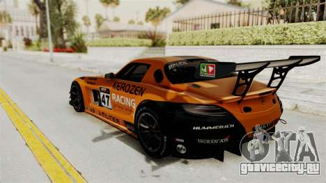 Mercedes-Benz SLS AMG GT3 PJ4 для GTA San Andreas вид сверху