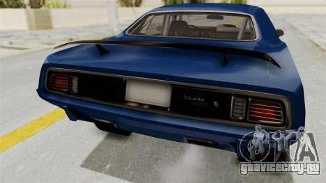 Plymouth Hemi Cuda 1971 Drag для GTA San Andreas вид изнутри