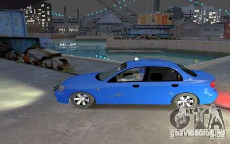 Daewoo Lanos Taxi для GTA 4 вид слева