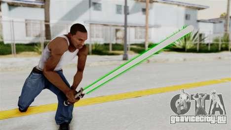Star Wars LightSaber Green для GTA San Andreas