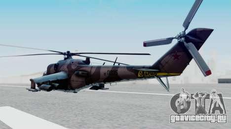 Mi-24V Soviet Air Force 0835 для GTA San Andreas вид слева