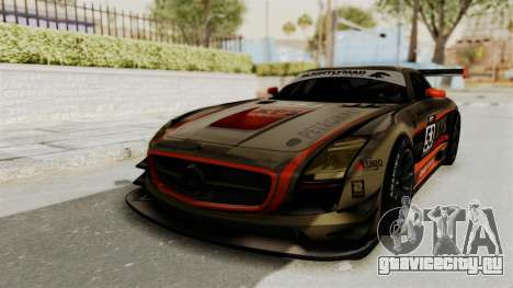 Mercedes-Benz SLS AMG GT3 PJ4 для GTA San Andreas вид снизу