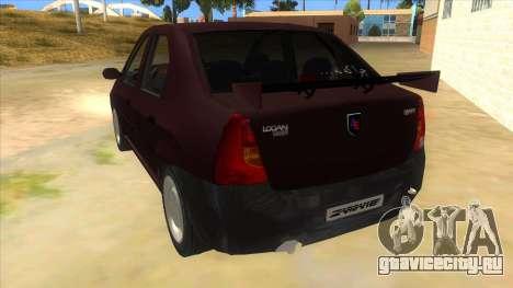 Dacia Logan Sport для GTA San Andreas вид сзади слева